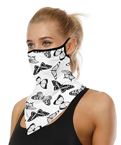 Doriley Face Shield Multifunktionstuch Motorrad Halstücher für Damen Mundschutz Halstuch Bandana Schlauchschal für Damen Herren Unisex 32 Farben (Z42, S)