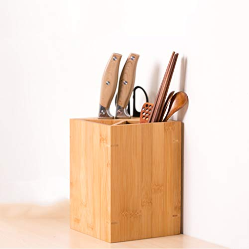FAPROL Knife Block Without Knives Countertop Kitchenware Holder Small Kitchen Scissors Tableware Organizer Racks Bamboo