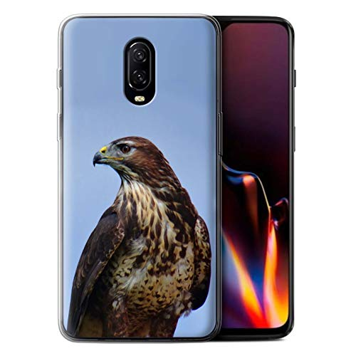 Stuff4 beschermhoes/cover/behuizing/gel/TPU/protetetiva bedrukt met Rapace-vogel-design voor OnePlus 6T - adelaar