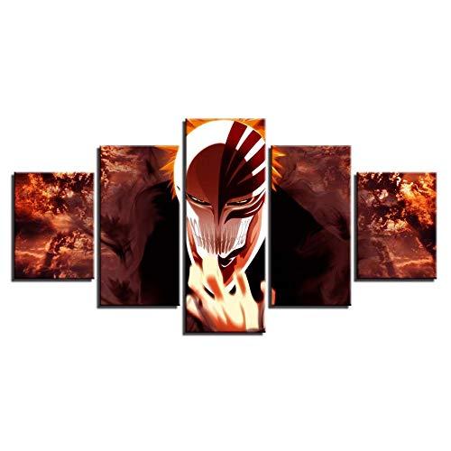 Home Art Posters Anime Scenery Hd 5 piezas decoración para decoración de la habitación carteles arte de pared pinturas de pared Decoración del hogar Anime Poster(Tamaño 1)