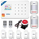 KERUI W18 Only 2.4G WIFI+GSM Wireless Smart Burglar Security Alarm System DIY Kit for Home Apartment Business,Remote APP Control,Auto Dial External Siren,Not Compatible Google & Alexa