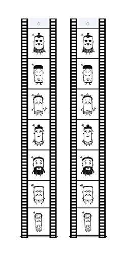 Trendfinding 2 Fototaschen Fotohalter Filmstreifen Hochformat 10 x 15 cm für je 7 Fotos