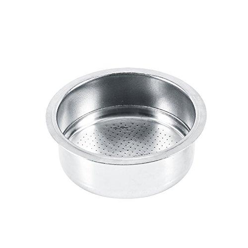 Filtro de café de acero inoxidable, 2 tazas accesorios de la máquina de café con filtro de cesta de filtro no presurizado