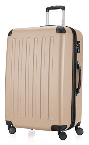 HAUPTSTADTKOFFER - Spree - Hartschalen-Koffer Koffer Trolley Rollkoffer Reisekoffer Erweiterbar, 4 Rollen, TSA, 75 cm, 119 Liter, Champagner