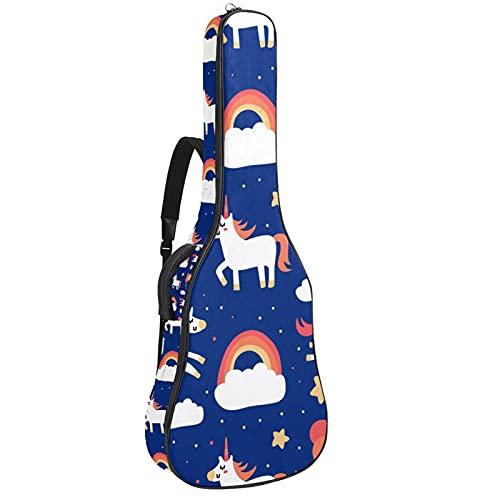 Bolsa de guitarra impermeable con cremallera suave para guitarra acústica y clásica,...