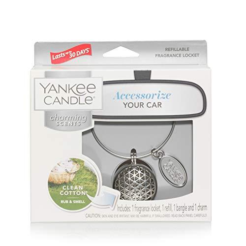 YANKEE CANDLE 5038581044538 Clean Cotton Starter Kit Geome Profumatore per Auto, Multicolore, Unica