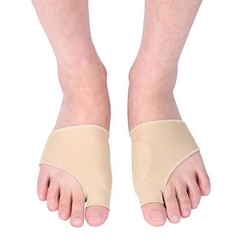 Zerone Bunion Corrector Big Toe Glätteisen Bunion Relief Sleeve mit Gel-Relief-Pads, Bunion Sleeve Protector Glätten gebogener Zehen Realign-Nachtzeit Hallux Valgus Foot Health Improving