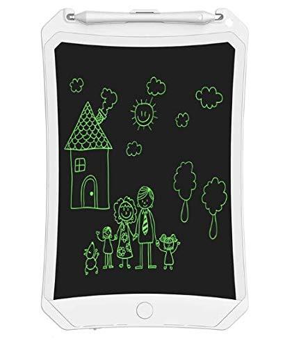 Tableta de escritura, tablero de dibujo digital de 8.5 pulgadas para niños colorido Doodle Board mini almohadilla de escritura a mano Tableta gráfica borrable para niños adultos (blanco)