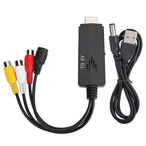 HD Video Converter, Video Adapter, HDMI naar RCA, Voor HDMI naar AV RCA 1080P HD Converter Adapterkabel Man-vrouw voor TV VCR DVD, Brede compatibiliteit, Convert HD