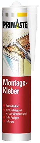 Primaster Montage-Kleber weiß lösemittelfrei schleifbar für innen und außen