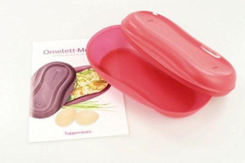 TUPPERWARE Omelett-Meister Omlettwunder Mikrowelle lachs rot 10116