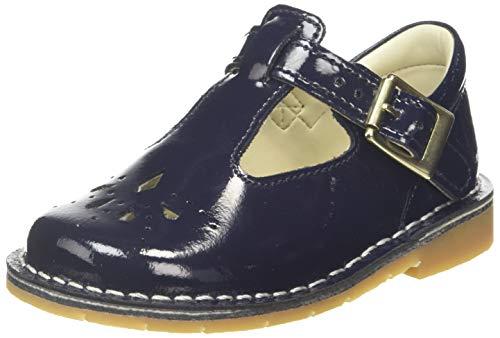 Clarks Mädchen Comet Weave T Geschlossene Ballerinas, Blau (Navy Patent Navy Patent), 21 EU