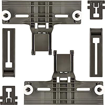 6 Packs W10350375(2) W10195840(2) W10195839(2) UPGRADED Dishwasher Top Rack Adjuster W/1.25 Inch Diameter Wheelsfor whirlpool kit chen aid kenmore (ONE YEAR QUALITY GUARANTEE)