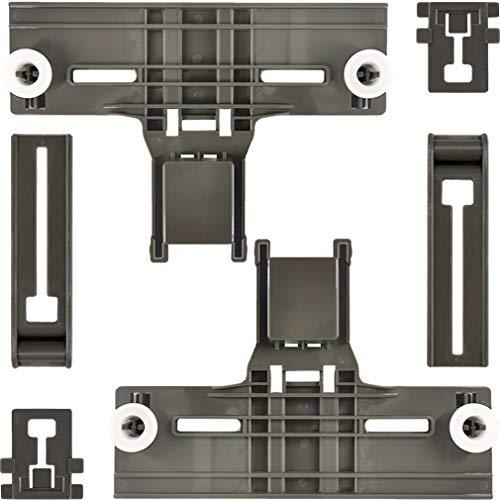 6 Packs W10350375(2) W10195840(2) W10195839(2) UPGRADED Dishwasher Top Rack...