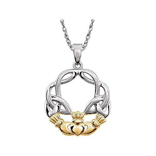 Jewels By Lux Claddagh Colgante para Mujeres