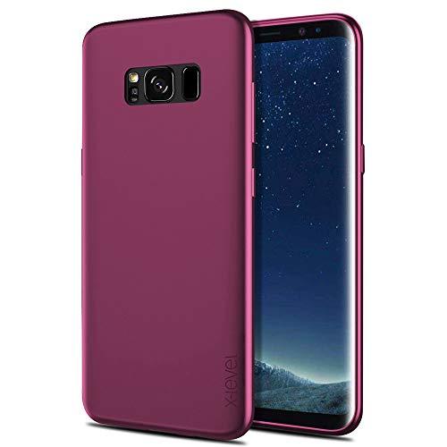 X-level Funda Samsung Galaxy S8 Plus, [Guardian Series] Suave TPU Gel Silicona Ultra Fina Anti-Arañazos y Protección a Bordes Phone Case Carcasa para Samsung Galaxy S8 Plus - Vino Rojo