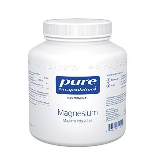 Pure Encapsulations - Magnesium (Glycinat) 120mg - gebunden an die Aminosäure Glycin wird Magnesium gut aufgenommen und toleriert - 180 vegane Kapseln