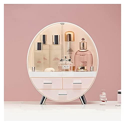 LITINGT Cosmetic Storage Box Home Fashion Drawer Makeup Storage Box Bathroom Brush Lipstick Holder Desktop Acrylic Jewelry Cosmetic Skin Care Organizer Rack (Color : Pink L)