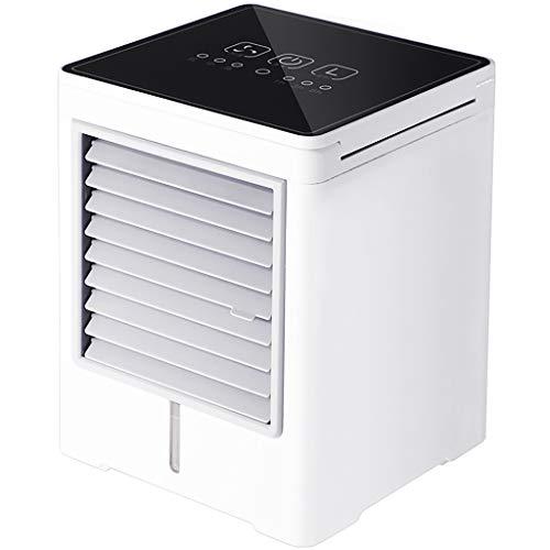 Raffreddatore ad aria portatile USB Ventola di ricarica a schermo intero Feel Smart Mini Portatile Aria Condizionata Ventilatore di raffreddamento per la casa (bianco)