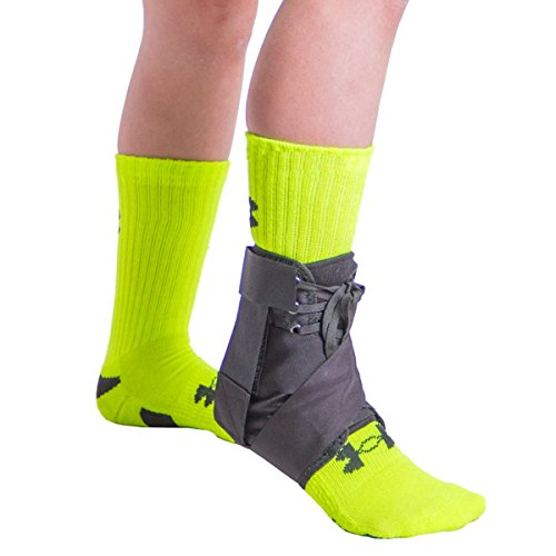 BraceAbility Lace Up Kids Ankle Brace