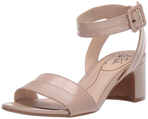 LifeStride Women's Carnival Heeled Sandal, Taupe, 6.5 W US