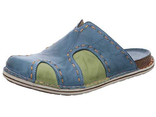 Gemini Damen Pantoletten Clogs Leder 331238-01, Größe:38 EU, Farbe:Blau