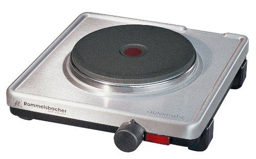 ROMMELSBACHER Automatik Einzelkochplatte AK 1599/E - Gehäuse aus Edelstahl, Gussheizplatte 145 mm - 1500 Watt