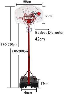 Lvbeis Panier de Basket sur Pied Mobile avec Roues Portable Panier de Basketball Ajustable 155-210cm pour Enfants et Adultes///À lint/érieur et /à lexterieur