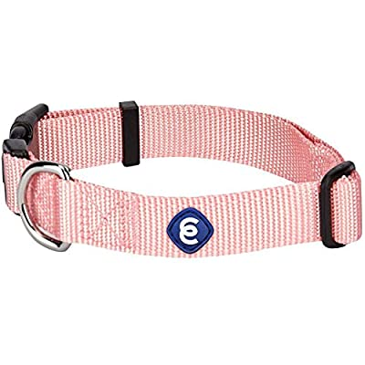 """Blueberry Pet Essentials 22 Colors Classic Dog Collar, Baby Pink, X-Small, Neck 8""""-11"""", Nylon Collars for Dogs"""