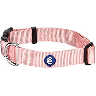 "Blueberry Pet Essentials 21 Colors Classic Dog Collar, Baby Pink, X-Small, Neck 8""-11"", Nylon Collars for Dogs (B06XFVD7QW) 