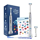 Triple Bristle Best Kids Sonic Toothbrush | Rechargeable 31,000 VPM Tooth Brush | Patented 3 Brush...