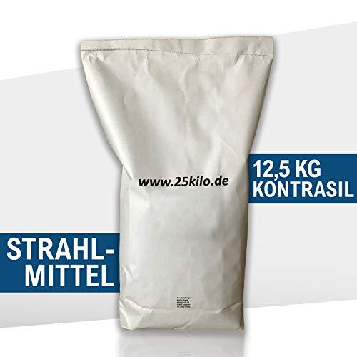 Kontrasil 12,5 kg Strahlmittel Strahlgut Sandstrahlen alle Körnungen (0,2-1,4 mm)