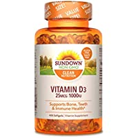 400-Count Sundown 1000IU Vitamin D3 Softgels