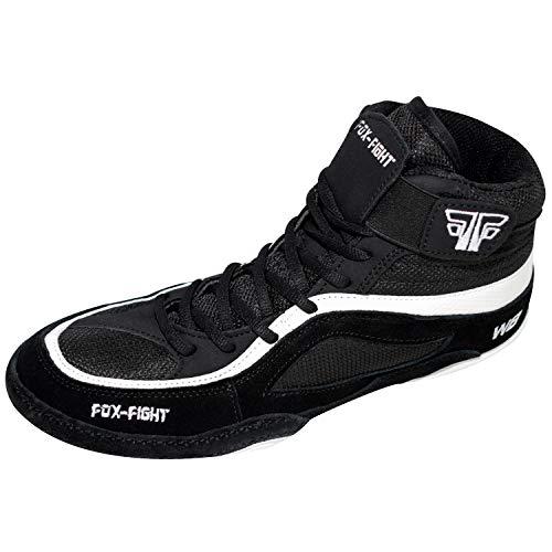 FOX-FIGHT W8 Ringer Wrestling Schuhe aus Wildleder Professionelle Hochwertige Qualität 46 schwarz