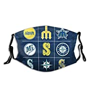 Seattle Logo Mar-In-Ers Unisex Ear Protection And Comfort Washable Reusable Breathable Face Mask Usagemasks Face Mouth Mask For Child Unisex Adult ,Full-Width Printing, Single-Sided Printing, 100% Polyester Fiber. One Size (Excluding Elastic Band): 2...