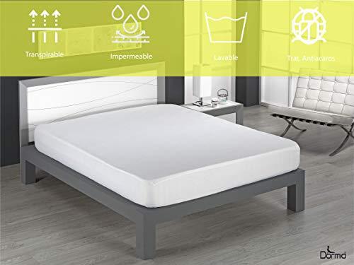 Dormio - Protector de Colchón, Impermeable y Transpirable, 100% Algodón de 160 Gramos, tamaño 105 x 190/200. (Todas Las Medidas). Modelo Amarillo Pack 2