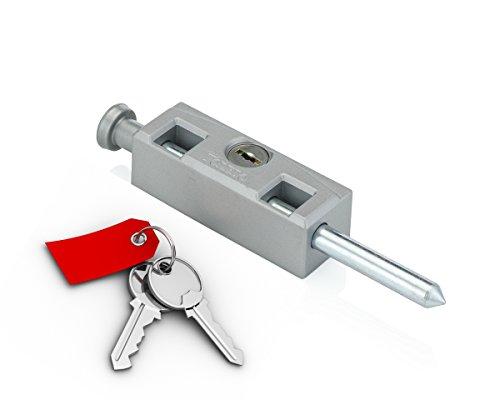 Sliding Door Lock for Window Glass Patio Doors : Toledo Locks' Best TDP-02S (Keyed Alike Yale Keyway)