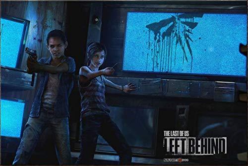 Leinwand Hd Last Us Spiel Poster Druck Zombie Survival Horror Action Print DIY Kunst Wandbild Modern Home Wohnzimmer Dekoration Gemälde Rahmenlos 40X60Cm 4430K