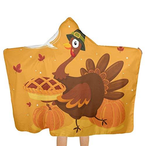 ZHSL Thanksgiving Turquie Kids Beach Bath Bathed Hooded Shower Towl