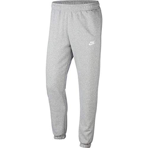 NIKE Sportswear Club Fleece - Pantalón de chándal para Hombre, Hombre, Pantalones de Correr, CW5608, Dk Grey Heather/Mate Plata/Blanco, Extra-Large