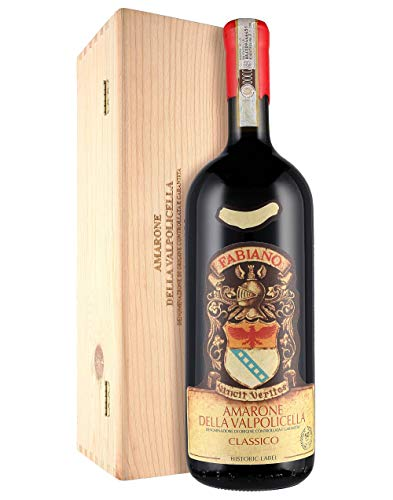 Amarone della Valpolicella Classico DOCG 2015 - Etichetta storica - Fabiano - Magnum 1,5 l. - Cassetta di legno
