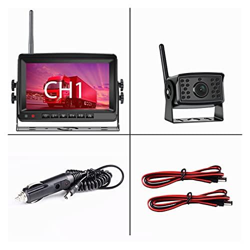 MeiKeL 2CH AHD Camión Inalámbrico DVR Monitor De Automóvil Monitor De Automóvil Pantalla De Exhibición De Automóviles 7 'IR Night Vision Recorder Reverse Backup Recorder WiFi Cámara Fit Para Bus RV