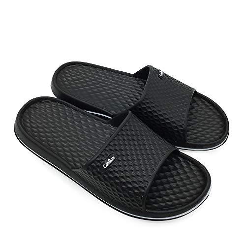 Coolion Mens Shower Sandals Bathroom Slippers Non Slip Indoor Sandals
