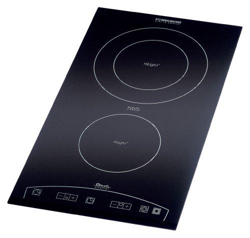 ROMMELSBACHER Domino Einbaukochfeld EBC 3477/TC - Schott Ceran Kochfläche, Touch Control, energiesparend, 9 Leistungsstufen, 99 Minuten Zeitschaltuhr, 3400 Watt, Einbaumaße 270 x 500 x 69 mm