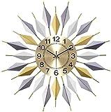 Sunmong Orologio da Parete Grande Orologio da Parete Decorativo in Metallo 23 Orologio da Parete Silenzioso Senza ticchettio da 6 Pollici Quadrante in Alluminio 3D al Quarzo di Facile Lettura