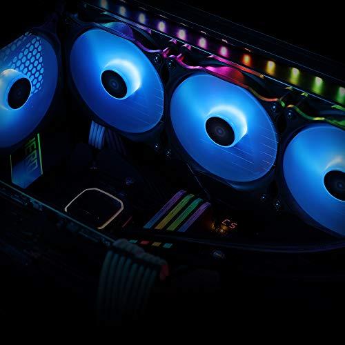 Antec 120mm Case Fan, PC Fans Blue LED, PC Case Computer Case Fan, 4-pin Molex Connector, F12 Series 3 Packs