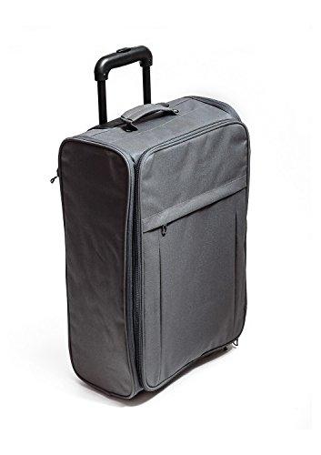 Valigia con rotelle pieghevole Ultra leggera, colore: grigio
