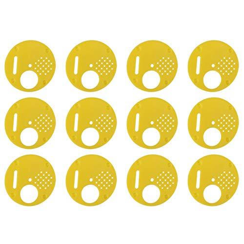 12 unids/set de plástico Beehive Nuc Box puertas de entrada equipo de apicultura con cuatro opciones de acceso para colmenas de apareamiento de barra superior
