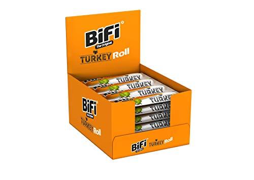 Bifi Roll Turkey - Herzhafter Truthahn-Salami Fleischsnack - Snack im Teigmantel - 24er Pack (24 x 45 g)