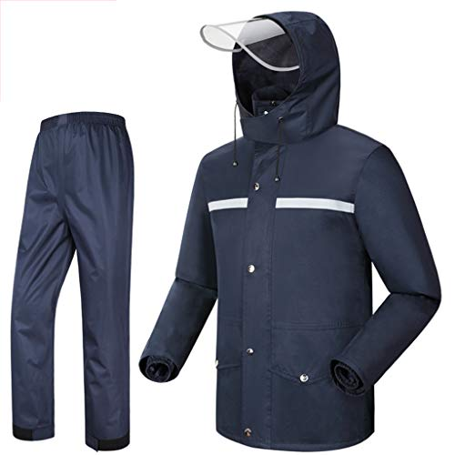Rain Suit Waterproof Set Portable Rain Suit Men's Motorcycle Rainwear Lightweight Raincoat Waterproof Breathable Fishing Jackets Outdoor Sports Rowing Cycling Camping Lightweight Rain Jacket